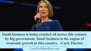carly fiorina small business big government gov