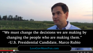 Rubio change decisions change people making decisions