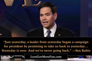 rubio yesterday a leader announced a campaign for presidency