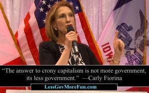 Carlly Fiorini crony capitalism