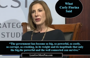 Carly Fiorini gov so big so powerful so corrupt