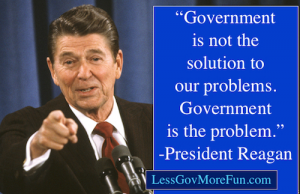 Reagan government is the problem solution