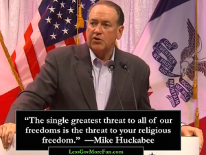 huckabee WP 1 single greatest threat