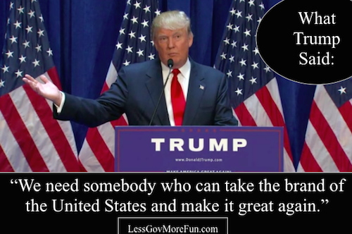 Donald Trump 4 announcement brand of the United States
