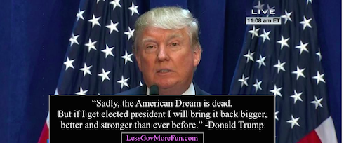 Donald trump american dream is dead bigger better than ever before wp