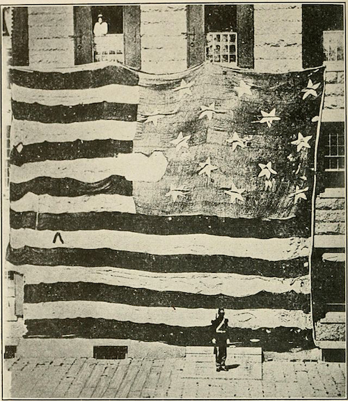 The American Flag post war of 1812, as it flew at Fort McHenry
