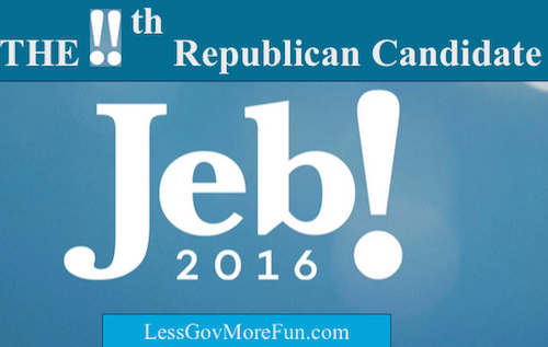 Jeb Bush with double !! slammers the 11th entry into the crowded republican field for 2016 president of the United States
