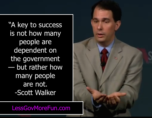 Tues 1 Scott Walker key to success how many people