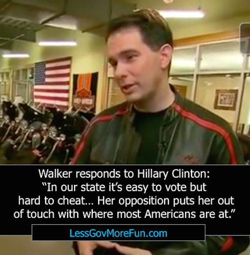 scott walker hillary clinton voter suppression wisconsin