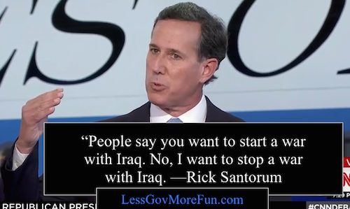 Rick Santorum CNN Happy Hour debate 2 RR