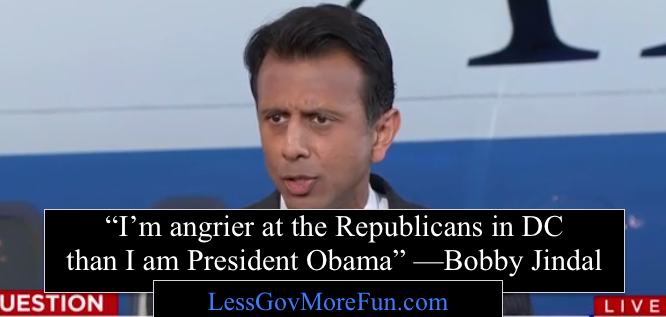 Bobby Jindal angrier at republicans than president Obama