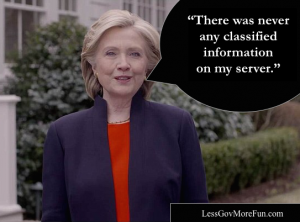 """There was never any classified information on my server"""